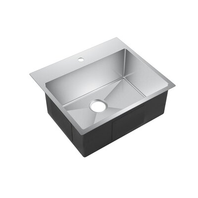 Water Creation 25 x 22 Drop-In Kitchen Sink with Strainer