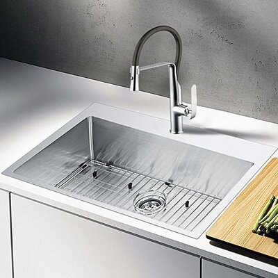 Water Creation 33 x 22 Drop-In Kitchen Sink with Strainer