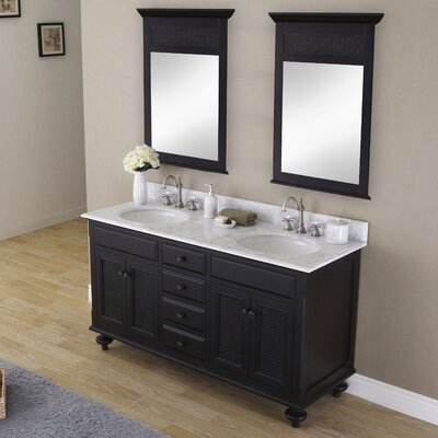 Carlson 60 Double Bathroom Vanity Set with Mirror