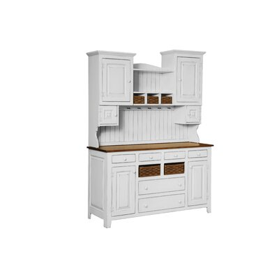 Amity 6 Drawer 6 Door Standard China Cabinet Color: Country White/Burnt Umber