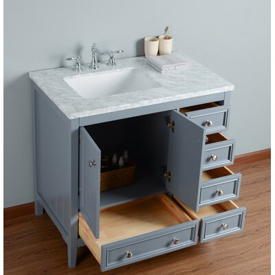 Murawski 36 Single Bathroom Vanity Set Base Finish: Gray