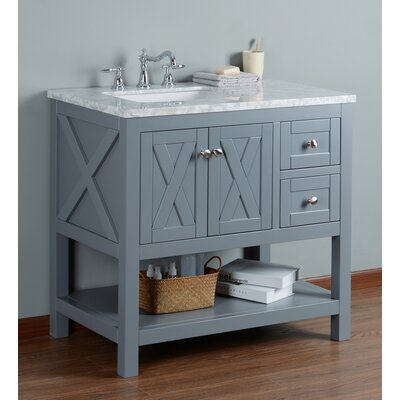 Lambert 36 Single Bathroom Vanity Set Base Finish: Gray
