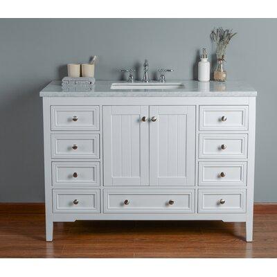 Murchison 48 Single Bathroom Vanity Set Base Finish: White