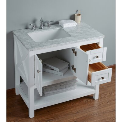 Lambert 36 Single Bathroom Vanity Set Base Finish: White