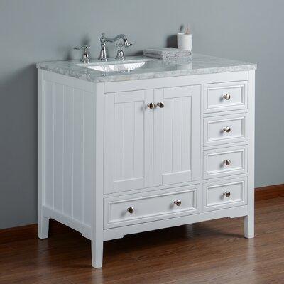 Murawski 36 Single Bathroom Vanity Set Base Finish: White