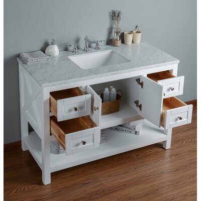 Nantes 48 Single Bathroom Vanity Set Base Finish: White