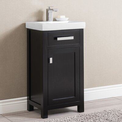 Knighten 18 Single Bathroom Vanity Set Base Finish: Espresso