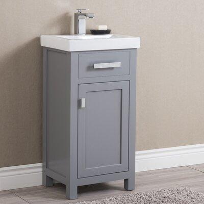 Knighten 18 Single Bathroom Vanity Set Base Finish: Gray