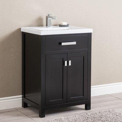Knighten 24 Single Bathroom Vanity Set Base Finish: Espresso