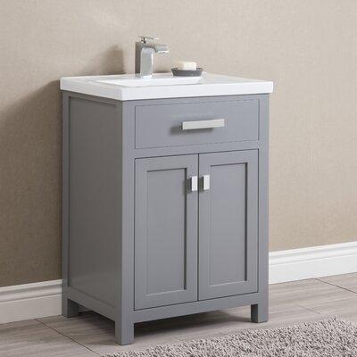 Knighten 24 Single Bathroom Vanity Set Base Finish: Gray