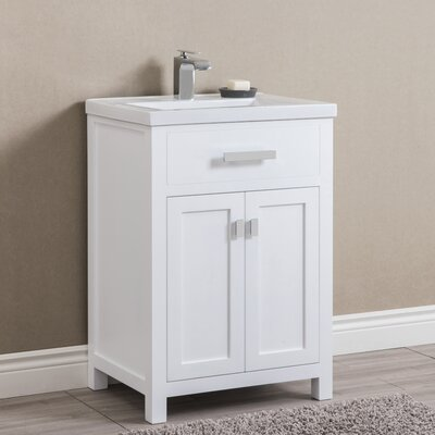 Knighten 24 Single Bathroom Vanity Set Base Finish: White