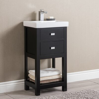 Knighten Modern 18 Single Bathroom Vanity Set Base Finish: Espresso