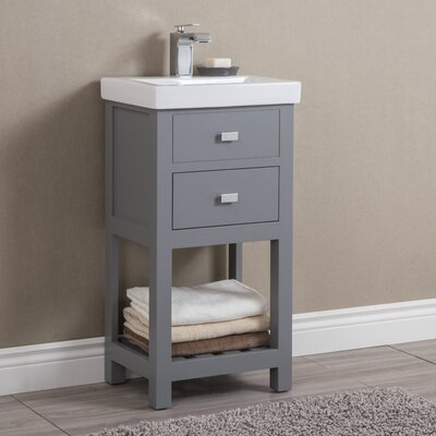 Knighten Modern 18 Single Bathroom Vanity Set Base Finish: Gray