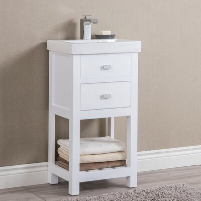 Knighten Modern 18 Single Bathroom Vanity Set Base Finish: White
