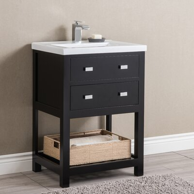 Knighten Modern 24 Single Bathroom Vanity Set Base Finish: Espresso