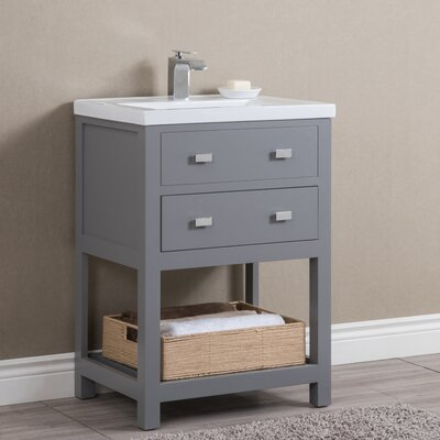 Knighten Modern 24 Single Bathroom Vanity Set Base Finish: Gray