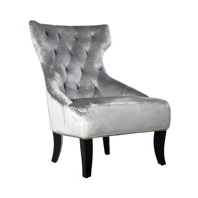 Alling Wingback Chair Upholstery: Gray