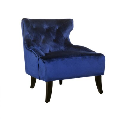 Allshouse Wingback Chair Upholstery: Blue