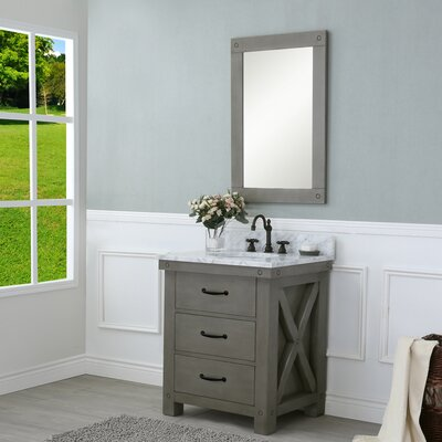 Cleora 30 Single Bathroom Vanity Set with Mirror