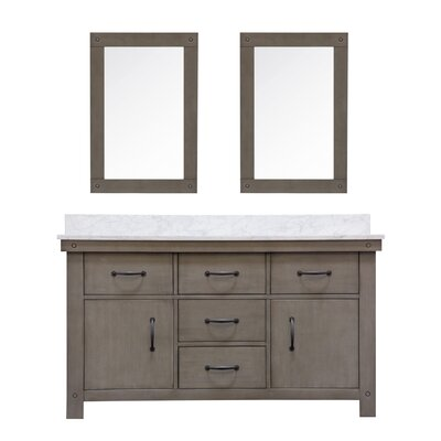 Cleora 60 Double Bathroom Vanity Set with Mirror