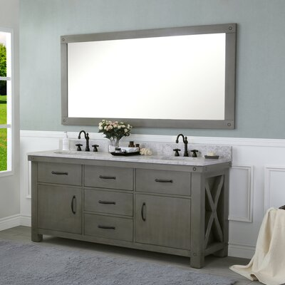 Cleora 72 Double Bathroom Vanity Set