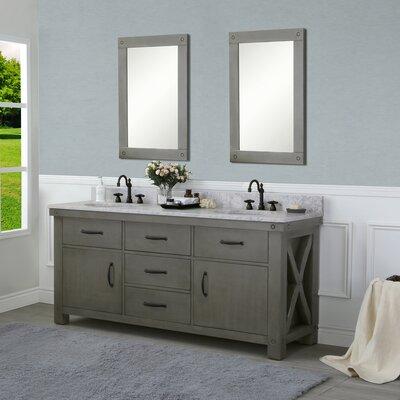 Cleora 72 Double Bathroom Vanity Set with Mirror