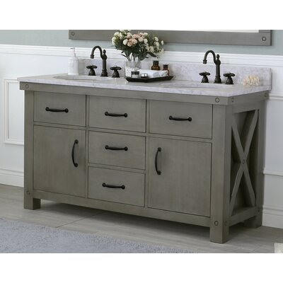 Cleora 60 Double Bathroom Vanity Set