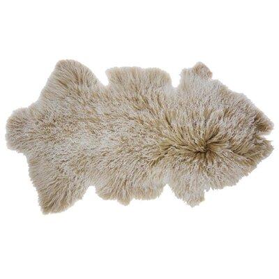 Arkose Shaggy Sheepskin Beige Area Rug