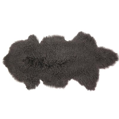 Arkose Shaggy Sheepskin Gray Area Rug