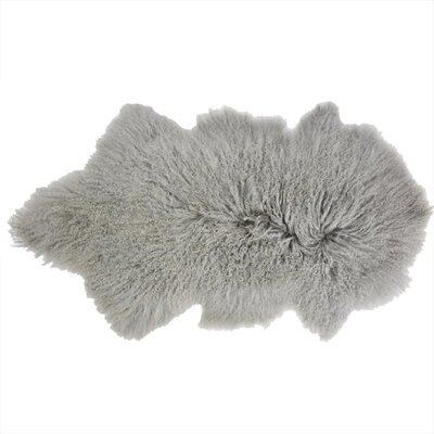 Arkose Shaggy Sheepskin Light Gray Area Rug