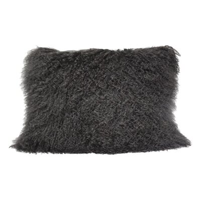 Arkose Shaggy Lamb Pillow Case Color: Gray