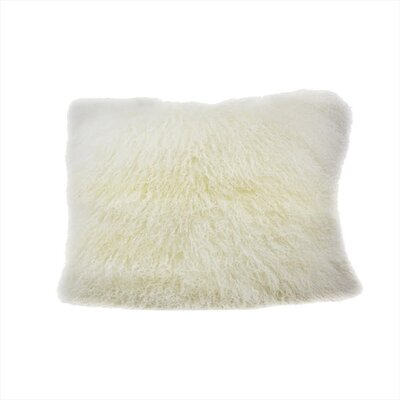 Arkose Shaggy Lamb Pillow Case Color: Natural