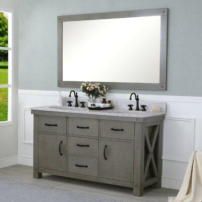 Cleora 60 Double Bathroom Vanity Set with Mirror