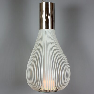 The Diaz 1-Light Pendant Finish: White