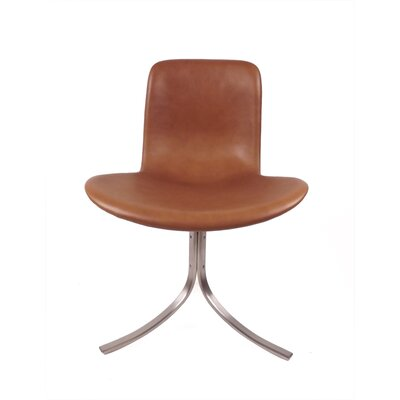 Decker Genuine Leather Upholstered Dining Chair