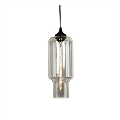 Tastrup 1-Light Pendant Shade Color: Grey Tint