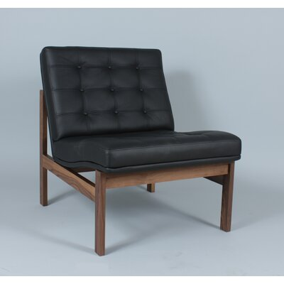 Ellen Slipper Chair Color: Black