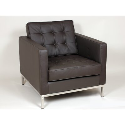 Draper One Seat Sofa Chair Color: Brown