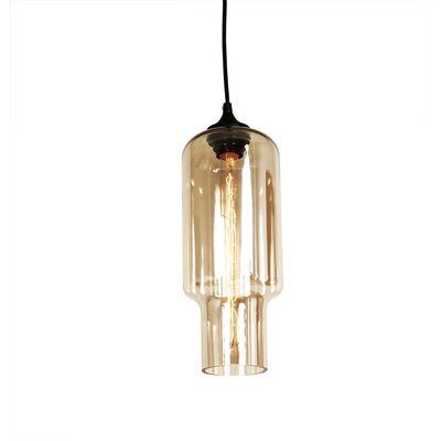 Tastrup 1-Light Pendant Shade Color: Brown Tint