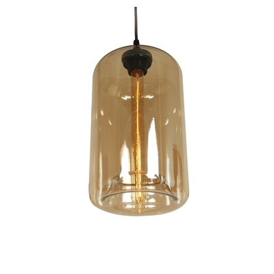 Arendal 1-Light Pendant Shade Color: Brown Tint