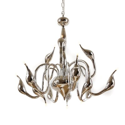 Rise 12-Light Candle-Style Chandelier