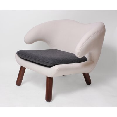 Pelican Lounge Chair Upholstery: White darkish