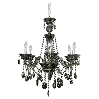 Octopussy 6-Light Crystal Chandelier