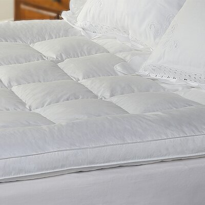 233 Thread Count Featherbed Mattress Topper Size: Full
