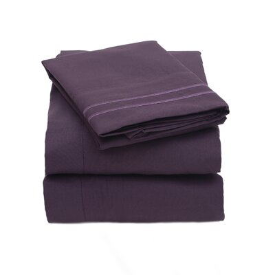 Sweet Home Collection 2000 Series Microfiber Sheet Set - Size: Queen, Color: Navy