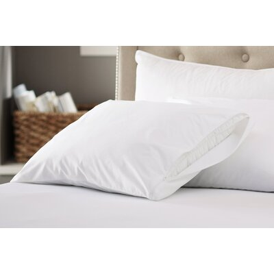 200 Thread Count Cotton Zippered Pillow Protector Size: Queen