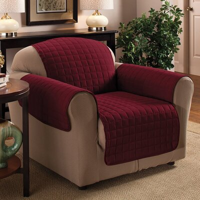 Chair Protector Slipcover Upholstery: Burgundy