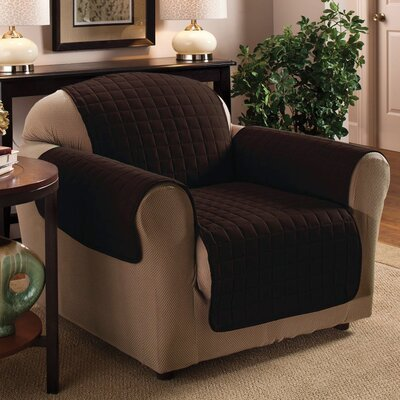 Chair Protector Slipcover Upholstery: Chocolate