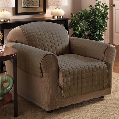 Luxury Pet Dog Chair Protector Slipcover Upholstery: Taupe