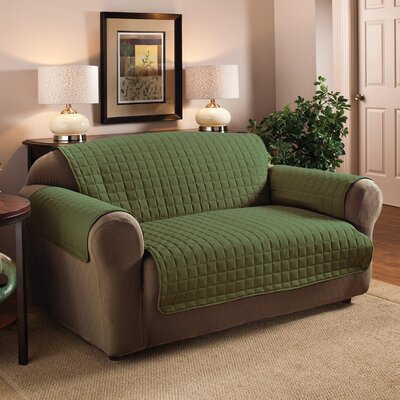 Luxury Pet Dog Loveseat Protector Slipcover Upholstery: Sage